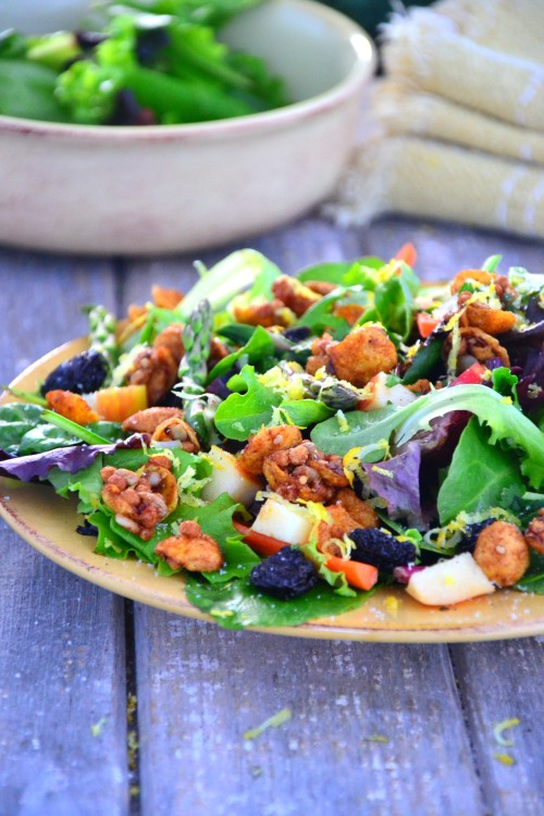 Apple Granola Asparagus Salad