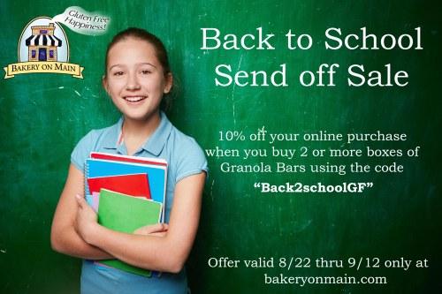 Back to school send off sale